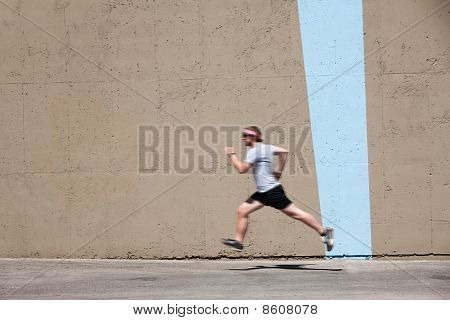 Man Runs To Prepare For Race