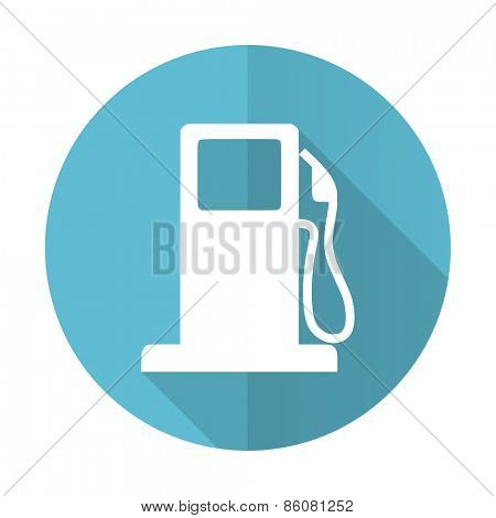 petrol blue flat icon gas station sign