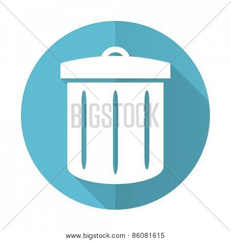 recycle blue flat icon recycle bin sign
