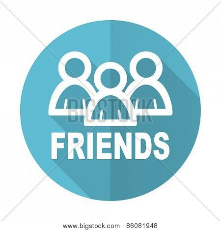 friends blue flat icon