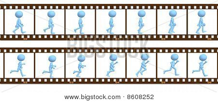 Animation Symbol People Walk Run In Cel Frames