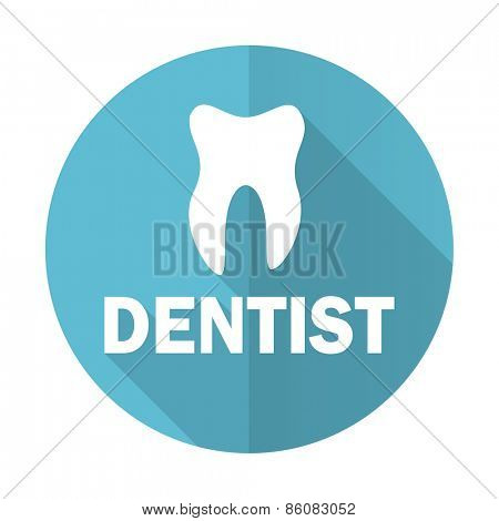 dentist blue flat icon
