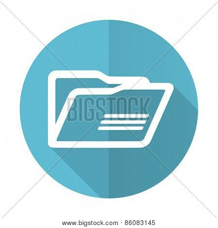 folder blue flat icon