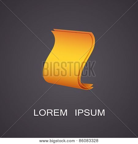 Vector illustration of a symbolic image of the paper