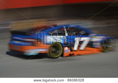 Fontana, CA - Mar 21, 2015:  Ricky Stenhouse Jr. (17) takes to the track to practice for the Auto Club 400 at Auto Club Speedway in Fontana, CA.