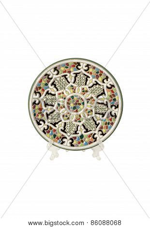Decorative plate of mosaic