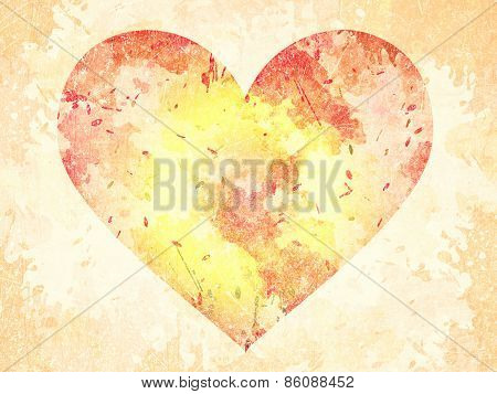 Abstract Grunge Background With Heart