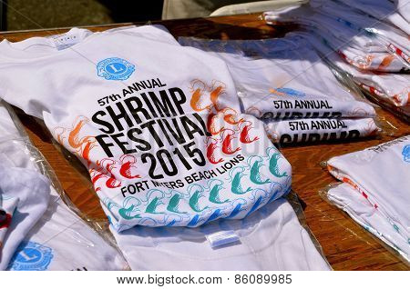 Shirts for sale at Shrimp Festival