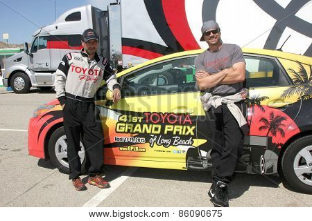 LOS ANGELES - FEB 21:  Raul Mendez, Joshua Morrow at the Grand Prix of Long Beach Pro/Celebrity Race Training at the Willow Springs International Raceway on March 21, 2015 in Rosamond, CA