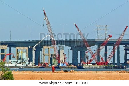 Galveston bridge construction