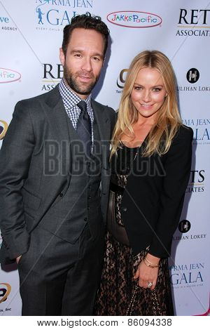 LOS ANGELES - MAR 18:  Chris Diamantopoulos, Becki Newton at the Norma Jean Gala at the Taglyan Complex on March 18, 2015 in Los Angeles, CA