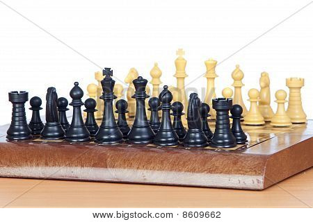Chess Game With All Pieces On The Board