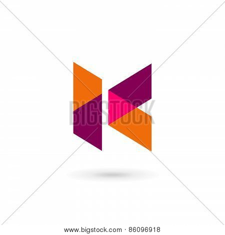 Letter K Mosaic Logo Icon Design Template Elements