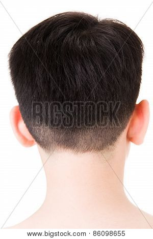 Close Up Of Asian Child Headshot Backside