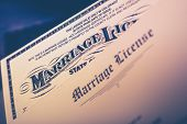pic of divorce-papers  - Marriage License Documents Closeup - JPG