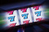 picture of slot-machine  - Triple Seven Slot Machine Win - JPG