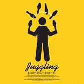 picture of juggling  - Juggling Black Symbol Vector Illustration - JPG