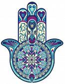 stock photo of pentagram  - Hamsa hand - JPG