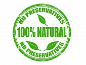 No Preservatives -100% Natural Stamp