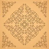picture of rosettes  - Set of decorative floral elements - JPG