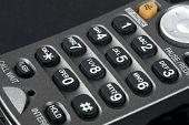 picture of keypad  - Close up shot of a landline telephone keypad - JPG