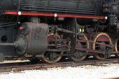 stock photo of locomotive  - Old steam train locomotive - JPG