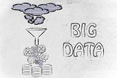 picture of ebusiness  - concept of big data processing and storage - JPG