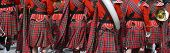 foto of kilt  - Details of original Scottish kilts, during Saint Patrick Parade