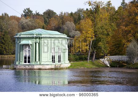 pavilion in park. Gatchina. Petersburg. Russia.