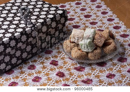 Arrangement Of Fig And Turkish Delight