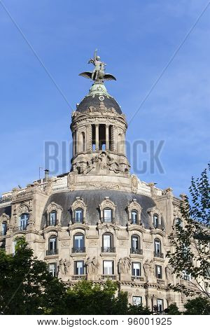 Spain. Barcelona. Ancient building in Passage de Gracia