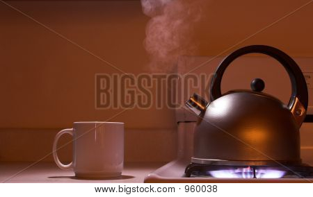 Steaming Tea Kettle