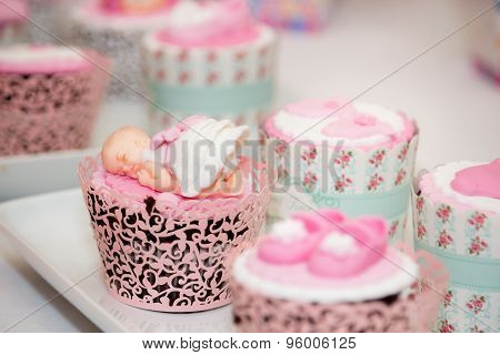 Cupcakes A For Baby Shower