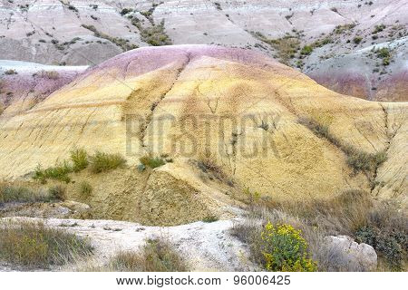 Unique Colors In A Badlands Hill