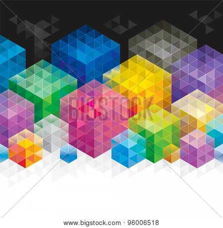 Abstract colors cube background.