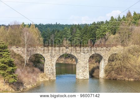 railway viaduct near Dolni Karlovice, Czech Republic