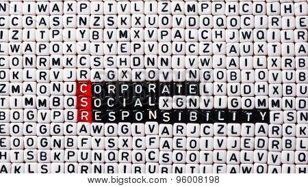Csr Corporate Social Responsibility Cubes