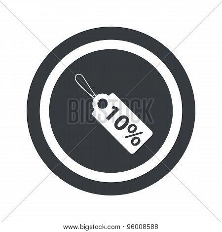 Round black discount sign