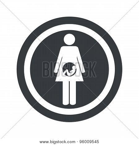 Round black pregnancy sign