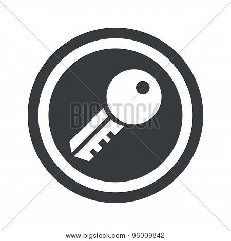 Round black key sign