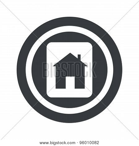 Round black house plate sign