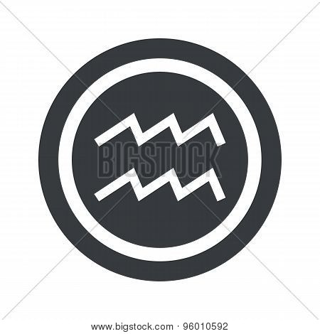 Round black Aquarius sign