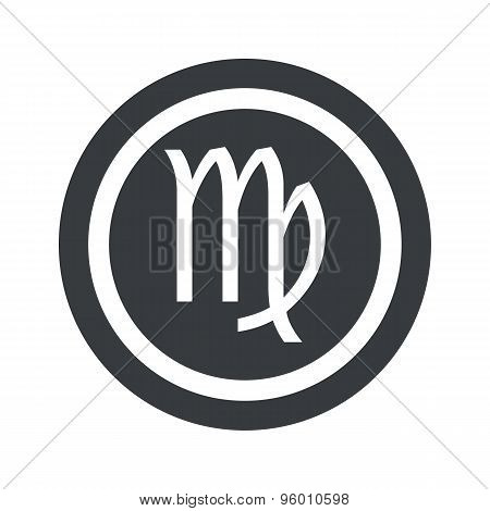 Round black Virgo sign