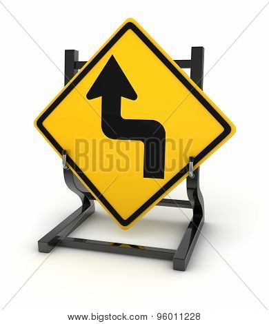 Road Sign - Curve Ahead