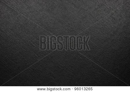 Natural Bright Black Fiber Linen Texture, Large Detailed Macro Closeup, Rustic Vintage Textured