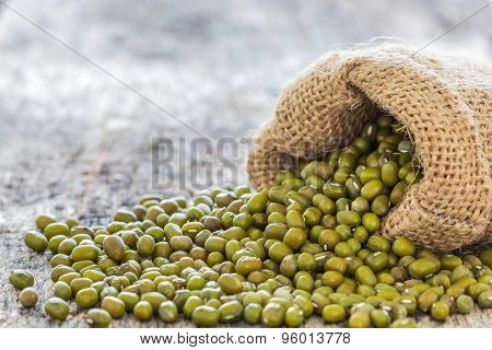 Mung Beans Poured From The Sack