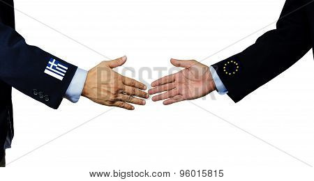 A Business Man Shake Each Other Hand, Isolated On White