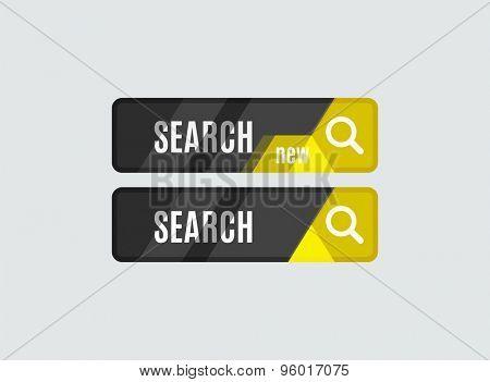 Search button, futuristic hi-tech UI design. Website, mobile applications icon, online design, business, gui or ui