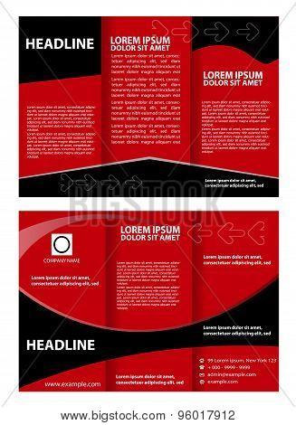 Modern tri-fold brochure design template