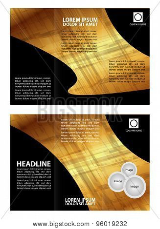 Brochure folder leaflet abstract element